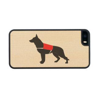 German Shepherd Dog in Vest in Silhouette iPhone 6 Plus Case
