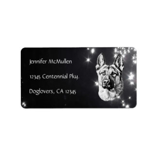 German Shepherd Dog Address Label