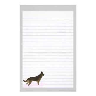 German Shepherd Dog Lined Stationery