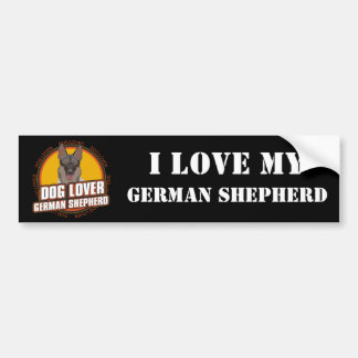 German Shepherd Dog Lover Car Bumper Sticker