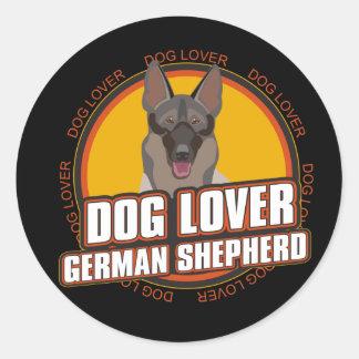 German Shepherd Dog Lover Round Stickers