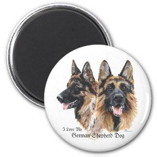 German Shepherd Dog 6 Cm Round Magnet