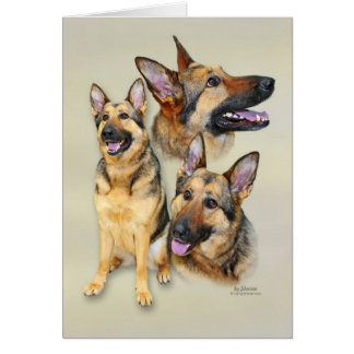German Shepherd Dog Note Card