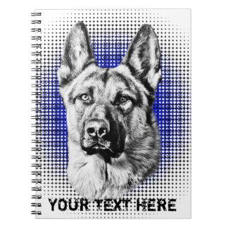 German Shepherd Dog Spiral Notebooks