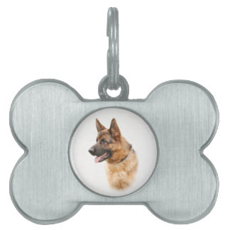 German shepherd dog pet ID tag
