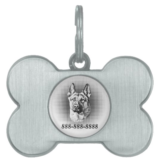 German Shepherd Dog Pet Name Tag