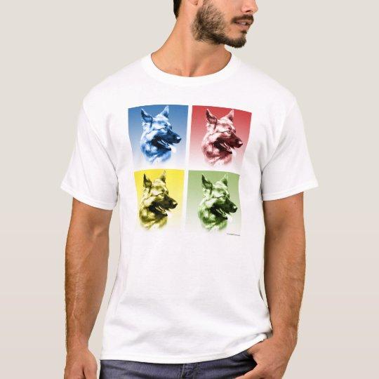 German Shepherd Dog Pop Art T-Shirt