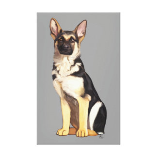 German Shepherd Dog Portrait Gallery Wrapped Canvas
