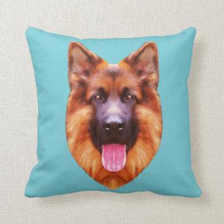 German Shepherd Dog Portrait Cushion