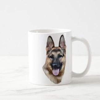 German Shepherd Dog Portrait Print Basic White Mug