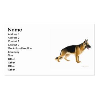 German Shepherd Dog Profile Card Business Card Template