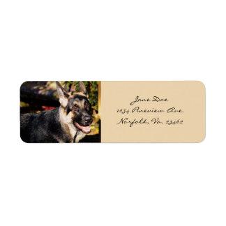 German Shepherd Dog Return Address Label