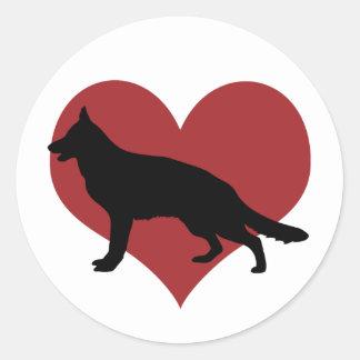 German Shepherd Dog Round Sticker