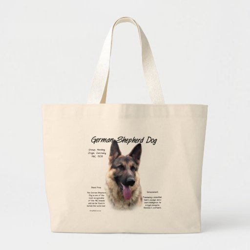 German Shepherd Dog (sable) History Design Bags