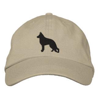 German Shepherd Dog Silhouette Baseball Cap