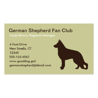 German Shepherd Dog Silhouette Pack Of Standard Business Cards