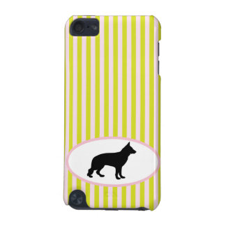 German Shepherd dog silhouette ipod touch 4G case