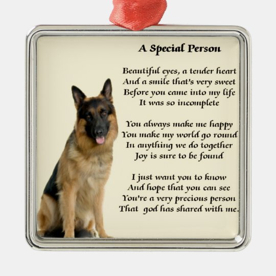 German Shepherd Dog - Special Person Poem Silver-Colored