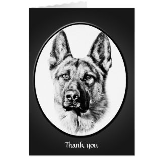 "German Shepherd dog ""thank you"" Card"