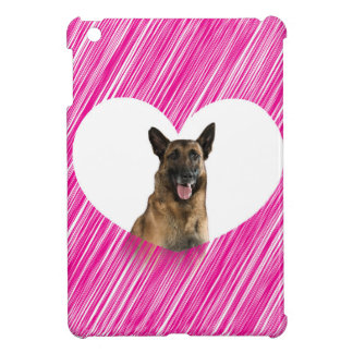 German Shepherd Dog Valentine Pink Heart Cover For The iPad Mini