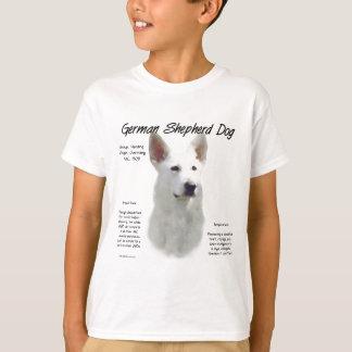 German Shepherd Dog (wht) History Design T-Shirt