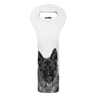 German Shepherd dog Wine Bag