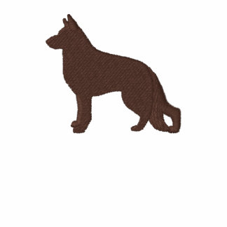 German Shepherd Dog with Paw on Back Side Polo Shirt