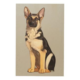 German Shepherd Dog Wood Prints