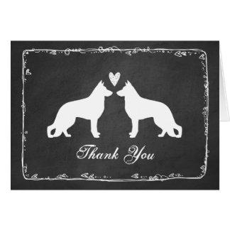 German Shepherd Dogs Wedding Thank You Card