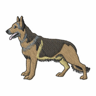 German Shepherd Embroidered Polo Shirts