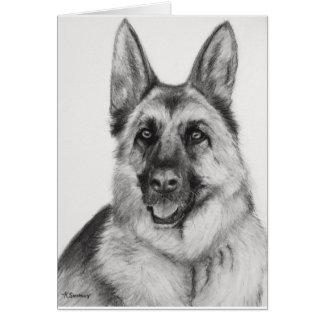 German Shepherd Fine Art Greeting Card