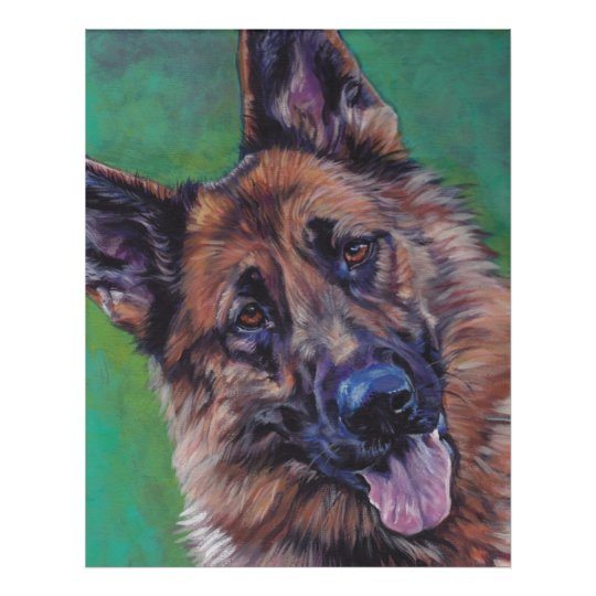 German Shepherd Fine Art Print poster