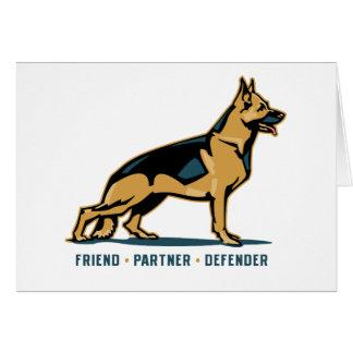 German Shepherd Friend Card