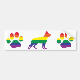 German Shepherd Gay Pride Bumper Sticker