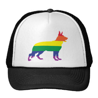 German Shepherd Gay Pride Cap