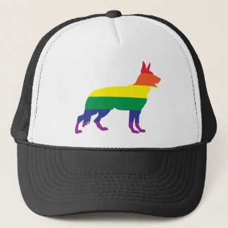 German Shepherd Gay Pride Trucker Hat