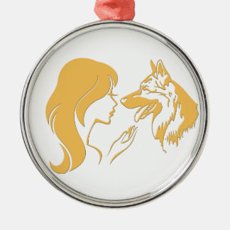 German shepherd Girls Christmas Ornament