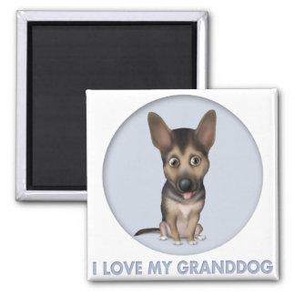 German Shepherd Granddog Square Magnet