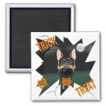 German Shepherd Halloween Fridge Magnet