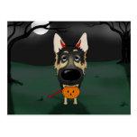 German Shepherd Halloween Postcards