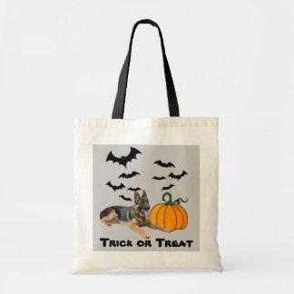 German Shepherd Halloween Tote Bag