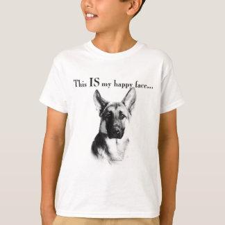 German Shepherd Happy Face T-Shirt