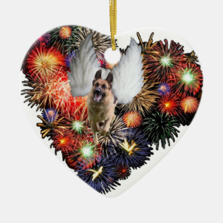 German Shepherd Heart Ornament