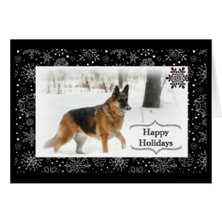 German Shepherd Holiday Greeting Card