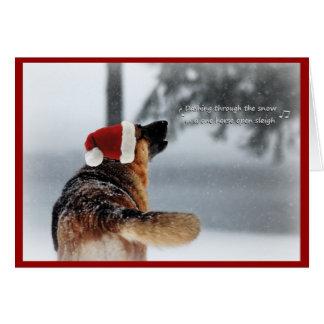 German Shepherd Holiday Greeting Greeting Card