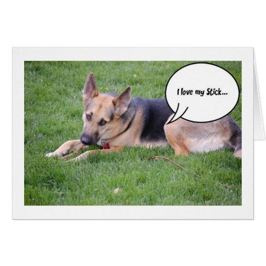 German Shepherd Humour Card