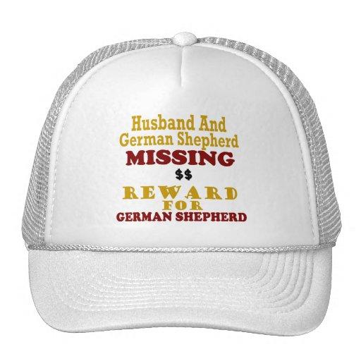 German Shepherd & Husband Missing Reward For Germa Mesh Hats