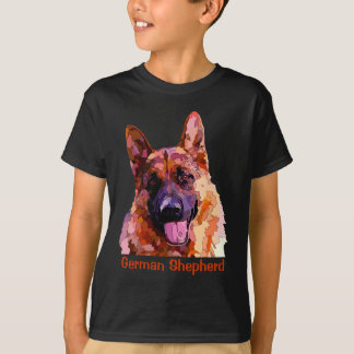 German Shepherd in Bright Colors T-Shirt