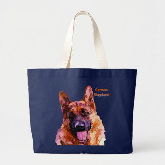 German Shepherd in Bright Colors Tote Bag