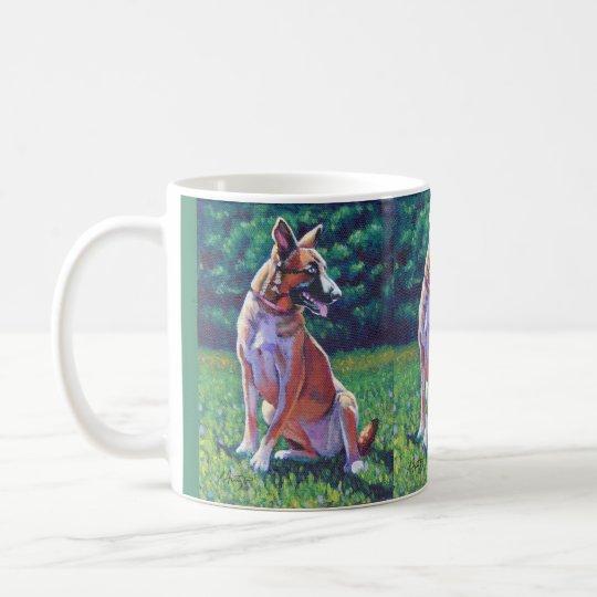 German Shepherd in Field Coffee Mug